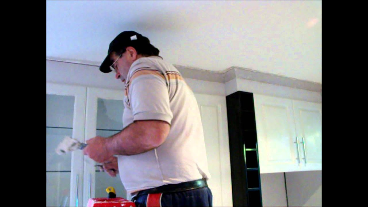Plastering How to cut cornice and put up ~ Hawthorn Plaster Repairs