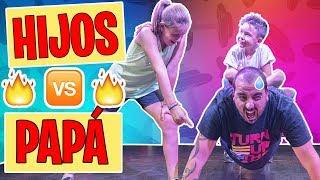 NIÑOS Vs ADULTOS 💪Mi padre ¿SOBREVIVIRÁ al gimnasio? ¡MIRA COMO QUEDÓ! tipos de padres cosas tipicas