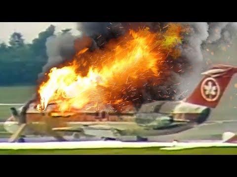 Desperate Escape   Plane Catches Fire After Landing   Air Canada Flight 797   4K