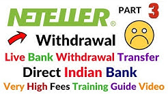 Neteller Account Live Indian Bank Withdrawal Live Bank Transfer Fees Too High Full Information Hindi