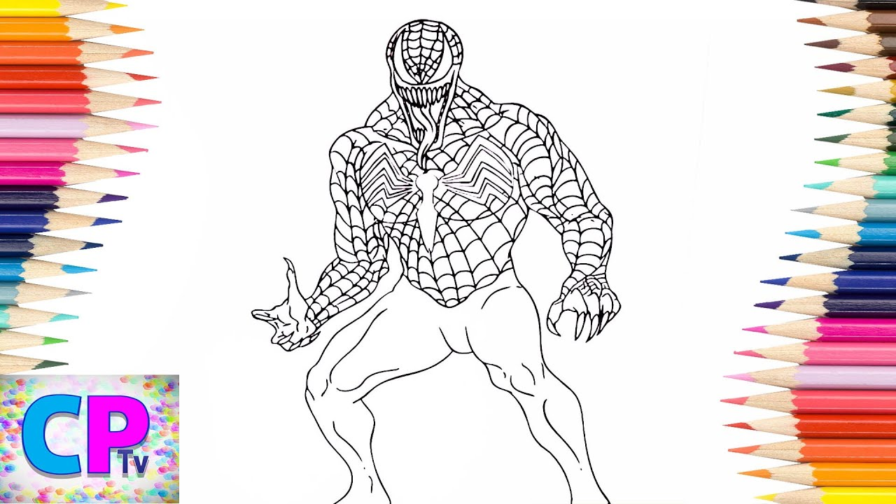 Venom From Spiderman Coloring Pages Part 25 Spiderman