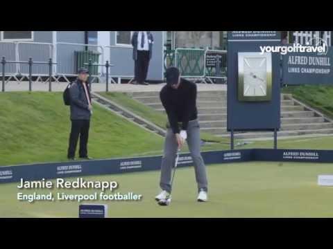 Celebrity golf swing montage  feat. Jamie Redknapp, Gerry McIlroy, Luis Figo, Michael Ballack...