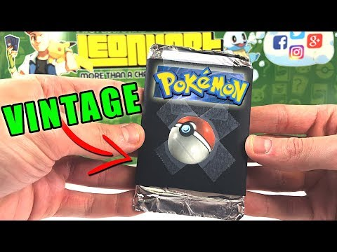 A FAN SENT ME A RARE VINTAGE POKEMON CARDS PACK HE MADE! - Letters For Leonhart!