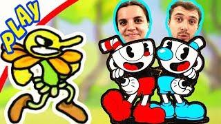 БолтушкА и ПРоХоДиМеЦ в Мире БРАТЬЕВ КАПХЕД! #226 Игра для Детей -  Капхед
