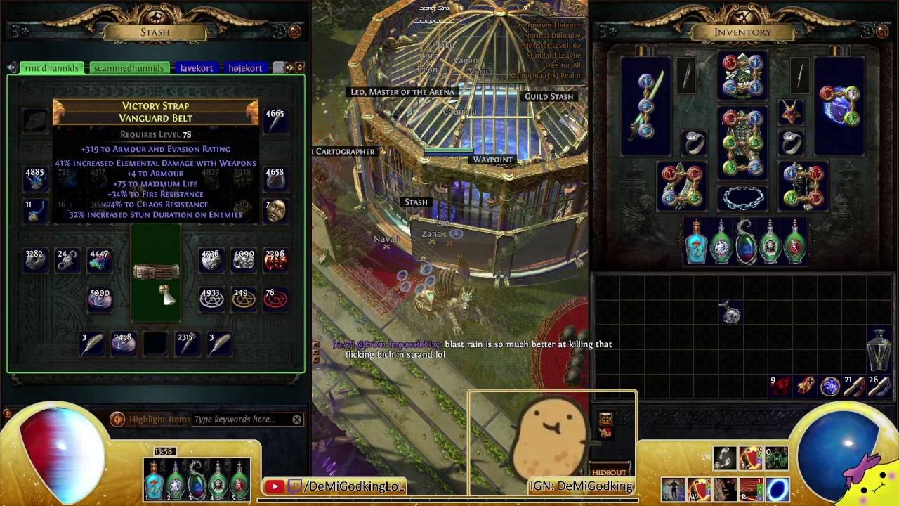 2 6 crafting session chaos spamming i84 marble amulet vanguard