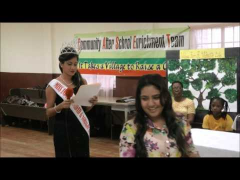 Ms India T&T Martina Mahase outreach at Community After School Enrichment Team -June 1, 2016