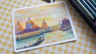 오일파스텔로 그리는 노을진 풍경 : Drawing La…