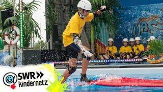 Schlitterbahn und Monsterpool (Tag 1) | krass nass! 2017 | SWR Kindernetz