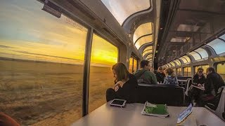 Amtrak Empire Superliner Empire Builder Portland OR to Red Wing MN Sleeper car  roomette train