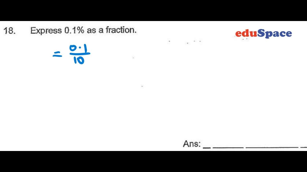 2019 CHIJ Primary P6 Mathematics SA2 Paper 1 Question 18
