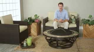 Crosley Glendale Round Slate Fire Pit In Black - Product Review Video