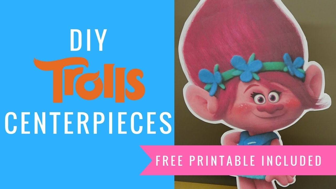 How To Make Trolls Princess Poppy Party Centerpieces Part 1 Youtube