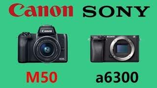 Canon EOS M50 vs Sony a6300