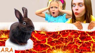 الأرض حمم بركانية - أغنية للطفل - Kids Song about The floor is lava
