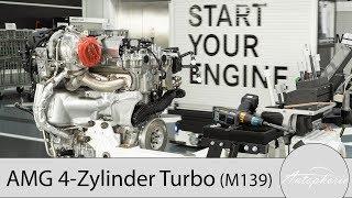 Der neue 4Zylinder Turbomotor von AMG die Technik des neuen M 139 Motor 4K  Autophorie
