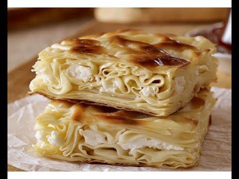 Очень вкусный пирог из лаваша с  твёрдым сыром и творогом. ( Банница, Ачма)