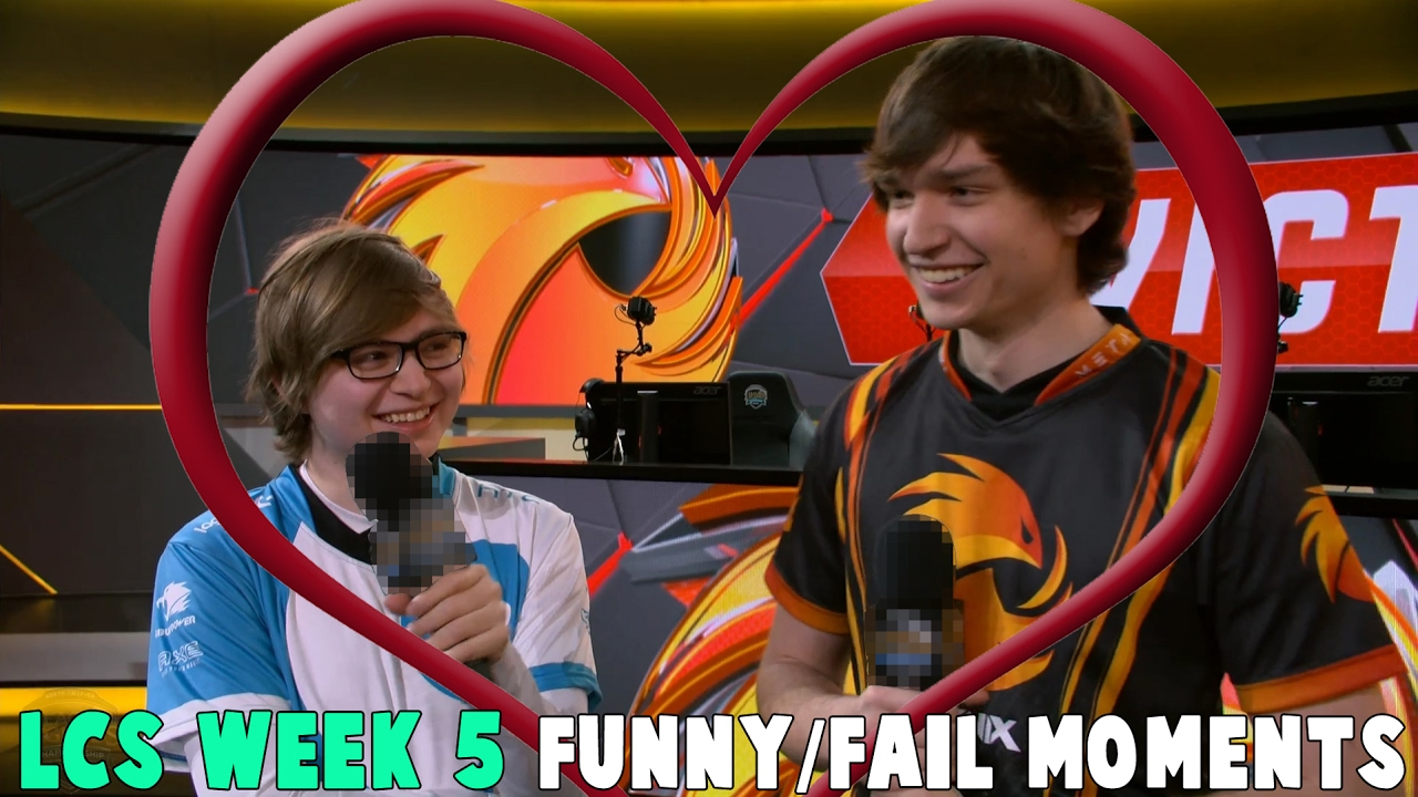 LCS WEEK 5 FUNNY/FAIL MOMENTS   2017 Spring Cut up
