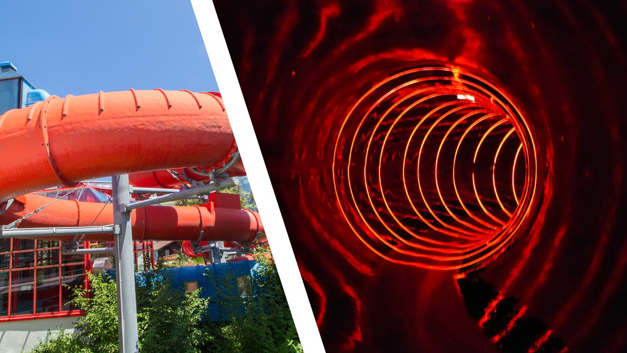 Aquarena Kitzb 252 Hel Black Hole Water Slide Onride Youtube