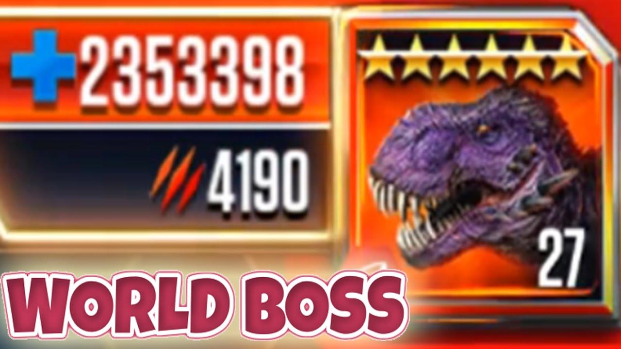 INSANE WORLD BOSS T.REX OMEGA 09 MAX LEVEL!? - Jurassic World The Game!