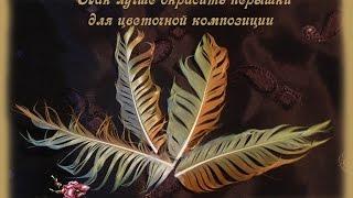 Окраска перышек для цветочных композиций(Видео о рукоделии: мастер класс: Окраска перышек для цветочных композиций., 2015-10-31T14:38:37.000Z)