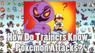 Pokemon Theory: How Do Trainers Know Their Pokemon's Attacks?