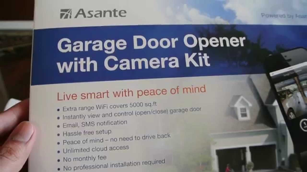 Asante Garage Door Opener With Camera Kit Youtube