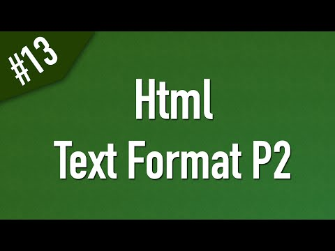 Learn Html In Arabic #13 - Text Format Part 2