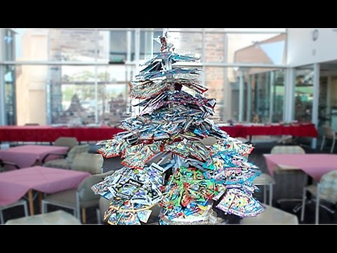 I Made A Christmas Tree Out Of Pokemon Booster Packs