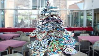 I Made A Christmas Tree Out Of Pokemon Booster Packs!