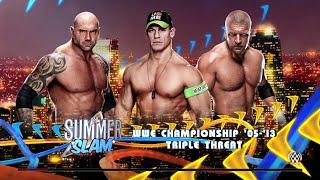 WWE 2K15-  John Cena vs Batista vs Triple H at Summerslam (PS4)