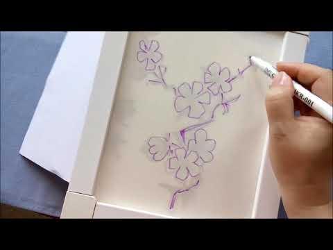 Вышивка схемы сакура