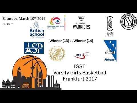 ISST Varsity Girls Basketball: Winner (13) - BSB  vs. Winner (14) - ASP