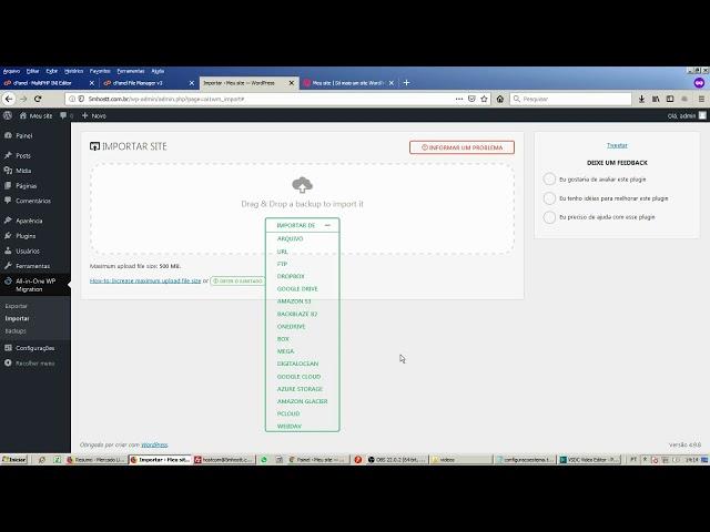 Como fazer backup do seu site Wordpress