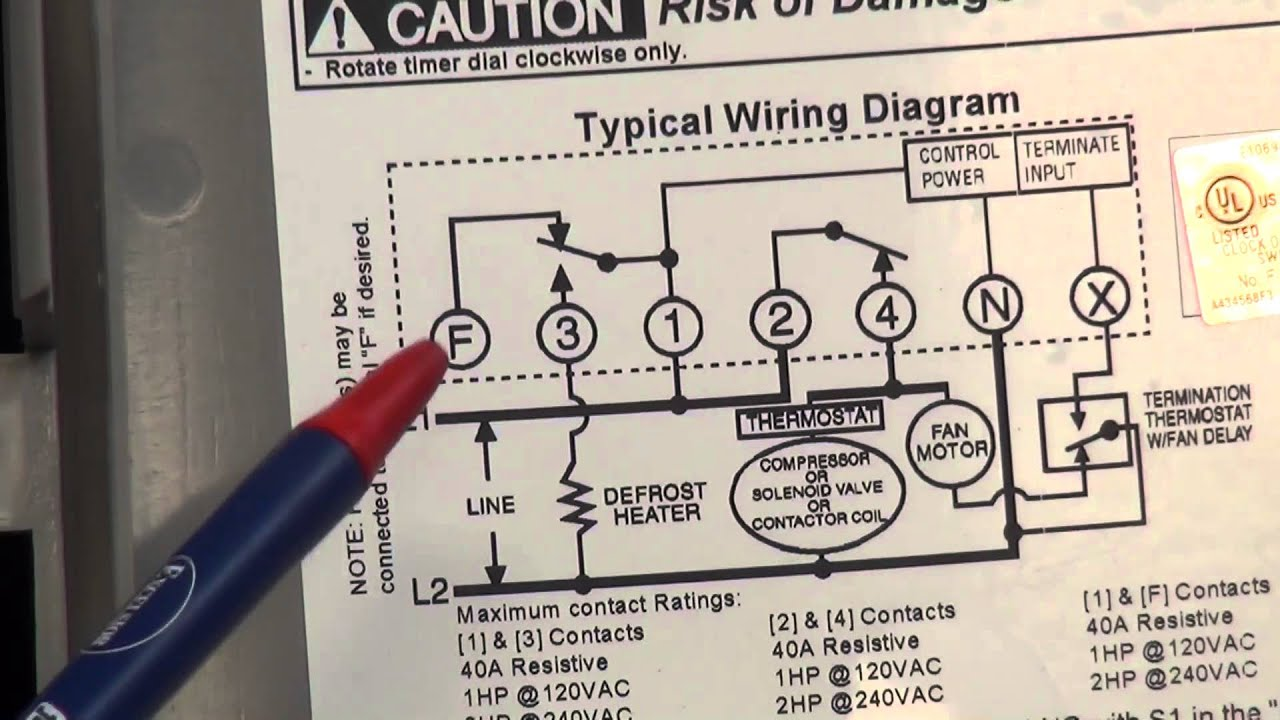 defrost timer wiring diagram  | youtube.com