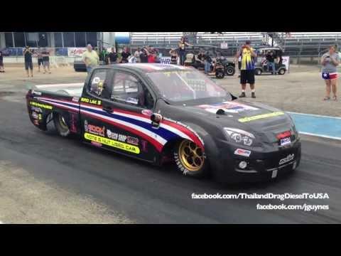 Team Thailand Diesel Drag - 8.2 @ 164mph [HD]