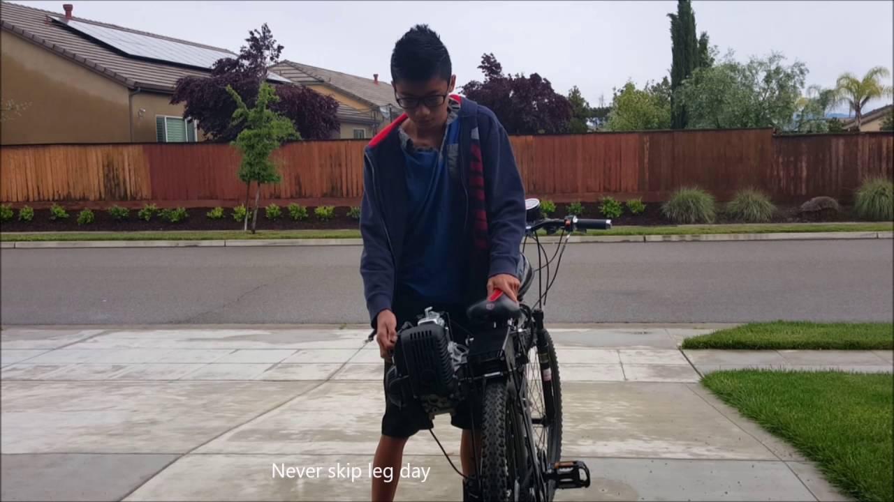 49cc 2-strokes friction drive gas motorized bicycle bike conversion kit