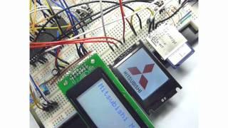 電子工作 dsPIC dsPIC30F4013 SD-card SDカード TFT液晶 小型液晶 LCD D...