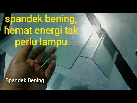 Spandek Transparan, Hemat Energi