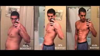 30 to 10 Body Fat Lose in 7 Months - Amazing Body Transformation