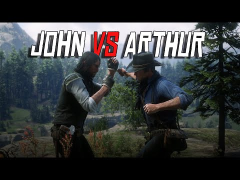 John Marston Vs Arthur Morgan Fist Fight | NPC Vs NPC | RDR2 Fight Club (RDR2 Mods)