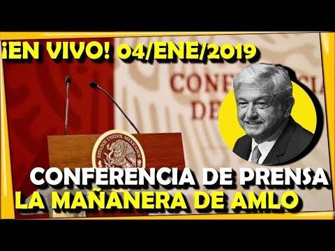 ¡EN VIVO! CONFERENCIA DE PRENSA DE AMLO 04/ENE/2019 - ESTADISTICA POLITICA
