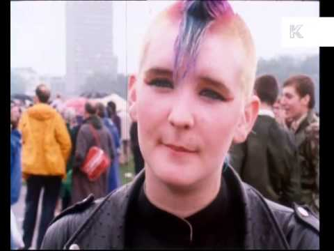 Late 1970s, Early 1980s Punk Girl Vox Pop on UK Unemployment