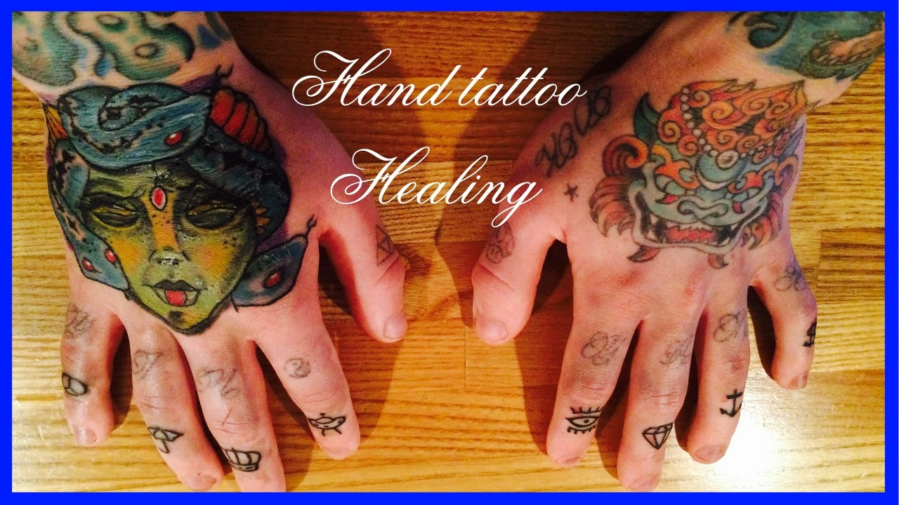THE BEST WAY TO HEAL A HAND TATTOO! - YouTube