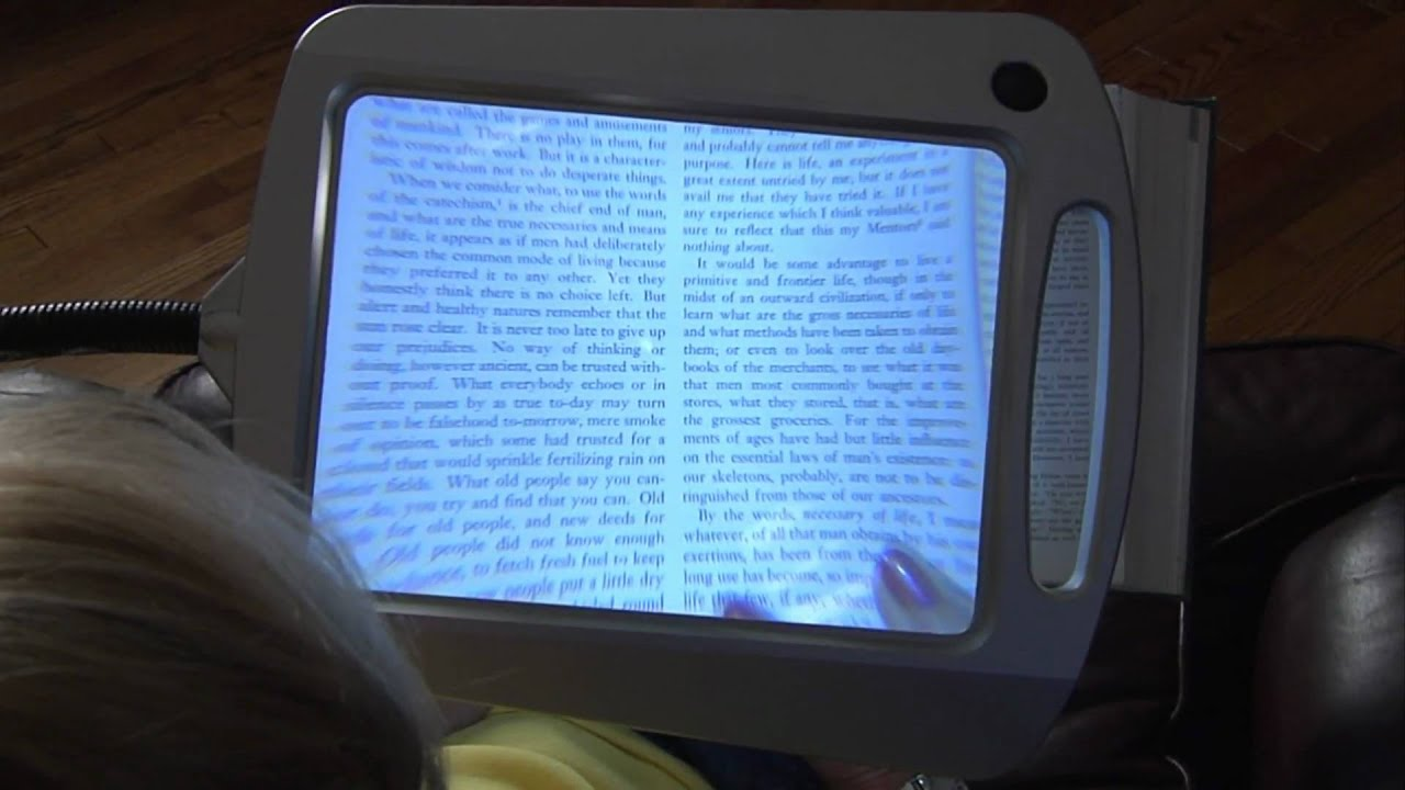 full page reading magnifier youtube