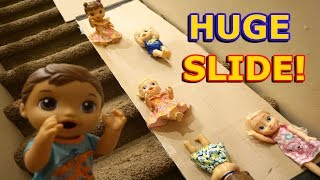BABY ALIVE Slide Down HUGE Slide In The House! thumbnail