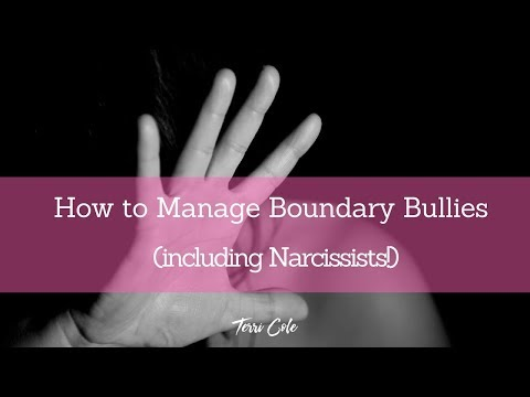 How to deal with Boundary Bullies including narcissists 2017 Terri Cole