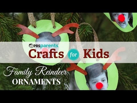 Family reindeer ornaments christmas crafts for kids for Christmas crafts for toddlers to make for parents
