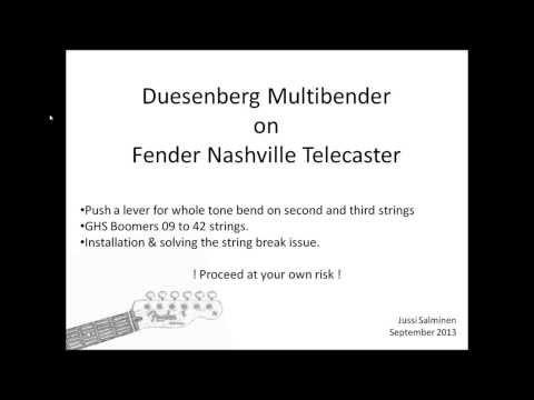 Duesenberg Multibender installation to Fender Nashville Telecaster