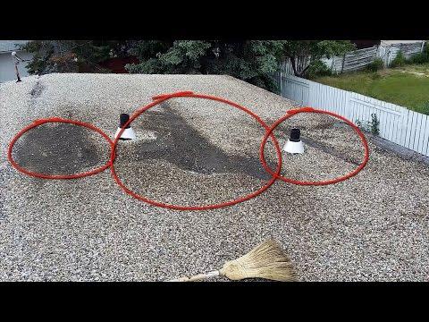 Major Leak Flat Roof Repair Edmonton Roofing Company Youtube