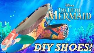 DIY Custom The Little Mermaid Ballet Flats Shoes Disney - Pinterest Project
